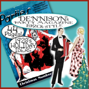 1920's era dennison christmas parties magizine e-book!