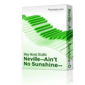neville--ain't no sunshine--drum tab