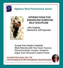 exercise self-discipline - self-hypnosis & affirmations