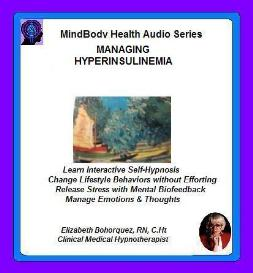 preventing diabetes or hyperinsulinemia with self-hypnosis
