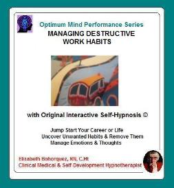 managing destructive work habits with self-hypnosis