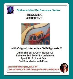 becoming assertive with self-hypnosis