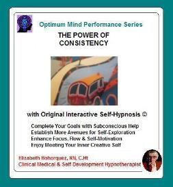 consistency building with self-hypnosis