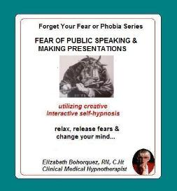 managing fear of public speaking & presentations with self-hypnosis