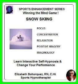 sports hypnosis - adult snow skiing performance