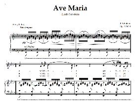 ave maria, medium voice in a flat major (dramatic sop./mezzo/ten.) schubert (latin). digital score. a4 (portrait)