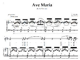 ave maria, medium voice in g major (mezzo), schubert (latin). digital score. a4 (portrait)