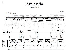 ave maria, medium voice (baritone) in a flat major, schubert (latin). digital score. a4 (portrait)