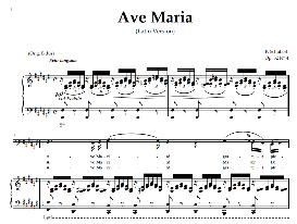 ave maria, low voice in  f sharp majo bass),  schubert  (latin). digital score. a4 (portrait)