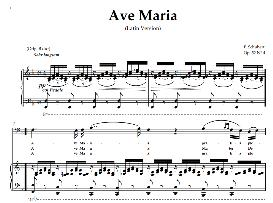 ave maria, low voice  in f major (bass) schubert (latin). digital score. a4 (portrait)