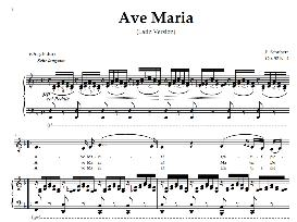 ave maria, low voice in f major (contralto/countertenor, schubert (latin). digital score. a4 (portrait)