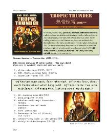 tropic thunder,  whole-movie english (esl) lesson (with simplified chinese)