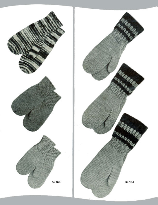 Third Additional product image for - 2 Needle Mittens | Volume 101 | Doreen Knitting Books DIGITALLY RESTORED PDF