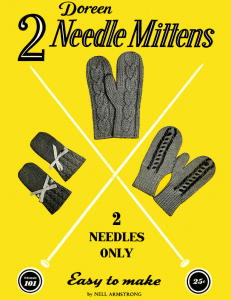 2 needle mittens | volume 101 | doreen knitting books digitally restored pdf