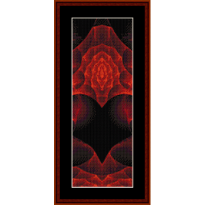 fractal 378 bookmark cross stitch pattern by cross stitch collectibles