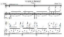 o holy night, medium voice in b flat major (mezzo)  english modern version. a. adam, j.s. dwight. digital score. a4 (portrait)
