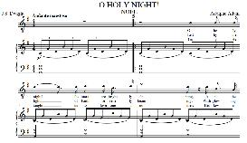o holy night, low voice in g  major (contralto) english modern version. a. adam, j.s. dwight. digital score. a4 (portrait)
