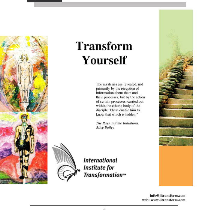 First Additional product image for - Transform Your Self - Web Self-Study