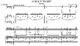 o holy night, medium voice in b major (baritone) english modern version. a. adam, j.s. dwight. digital score. a4 (portrait)