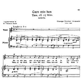 caro mio ben, low voice in c major, g.giordani. transposition for low voice (schirmer). for bass, contralto, countertenor. source: anthology of italian song of the 17th and 18th centuries (parisotti), vol.2, schirmer (1894)