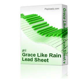 grace like rain lead sheet with sat voicing