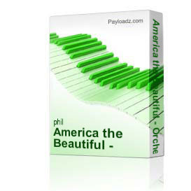 america the beautiful - orchestration only phil brower series satb w/p