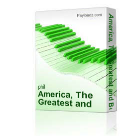 america, the greatest and best - orchestration only phil brower series