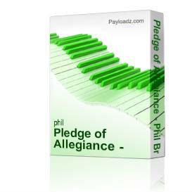 pledge of allegiance - phil brower series satb w/piano