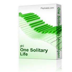 one solitary life (accompaniment trax) - christmas musical by phil and lynne brower