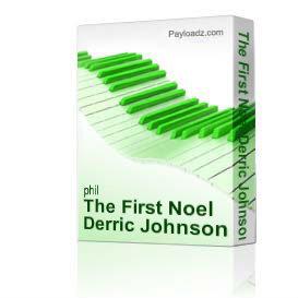 the first noel derric johnson a cappella christmas choral satb