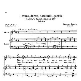 danza danza, fanciulla, medium voice in b flat minor , f. durante schirm