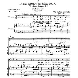 delizie contente, low voice in f minor, f.cavalli. for contralto, bass, countertenor. anthology of italian song of the 17th and 18th centuries (parisotti), vol.2, schirmer (1894)