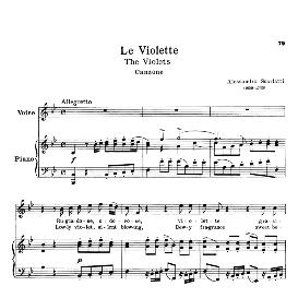 le violette, high voice in b flat major, a.scarlatti. for soprano, tenor. schirmer (pd)