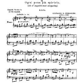 ogni pena piu spietata, medium-low voice in a minor, g.b.pergolesi. for mezzo, baritone. anthology of italian song of the 17th and 18th centuries (parisotti), vol.1, schirmer (1894)