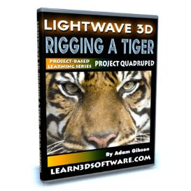 lightwave 11-rigging a tiger-project quadruped