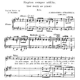 ragion sempre addita, high voice in a major, a. tenaglia. for soprano, tenor. anthology of italian song of the 17th and 18th centuries, parisotti vol. 2, schirmer (1894),