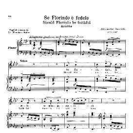 se florindo e fedele, medium voice in a flat major,  a. scarlatti.  for mezzo, baritone. reprint from  anthology of italian song of the 17th and 18th centuries, parisotti vol. 1, schirmer (1894