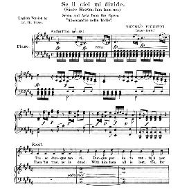 Se il ciel mi divide, Medium Voice in D Minor, N. Piccini. For Mezzo, Baritone. Anthology of italian Song of the 17th and 18th Centuries, Parisotti Vol. 2, Schirmer (1894) | eBooks | Sheet Music