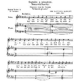 seguita a piangere, medium voice in f minor, g.b.bassani. anthology of italian song of the 17th and 18th centuries, parisotti vol. 2, schirmer (1894)