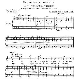 Su, venite a consiglio, Medium-High Voice in G major. For Soprano, Tenor.  Anthology of italian Song of the 17th and 18th Centuries, Parisotti Vol. 2, Schirmer (1894) | eBooks | Sheet Music