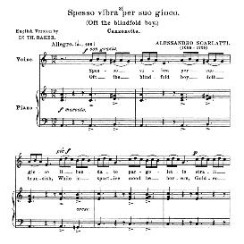 spesso vibra per suo gioco, low voice in a minor. for contralto, bass. anthology of italian song of the 17th and 18th centuries, parisotti vol. 1, schirmer (1894)