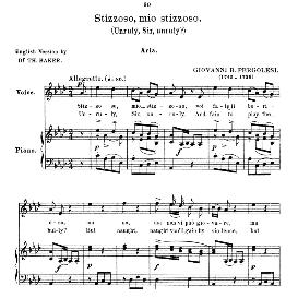 Stizzoso, mio stizzoso, G.B. Pergolesi. High Voice in A Flat Major. For Soprano. Anthology of italian Song of the 17th and 18th Centuries, Parisotti Vol. 1, Schirmer (1894) | eBooks | Sheet Music