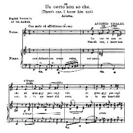un certo non so che, medium voice in a minor. for mezzo, baritone. anthology of italian song of the 17th and 18th centuries, parisotti vol. 1, schirmer (1894)