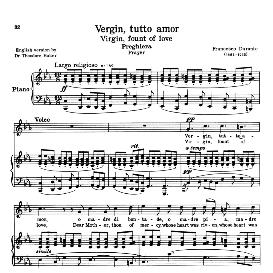 Vergin, Tutto amor, Medium-High Voice in C Minor. For Mezzo, Baritone.  Reprint (Schirmer). source:  Anthology of italian Song of the 17th and 18th Centuries, Parisotti Vol. 2, Schirmer (1894) | eBooks | Sheet Music
