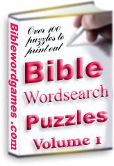 Bible Wordsearch Puzzle Ebook Vol1 | eBooks | Religion and Spirituality