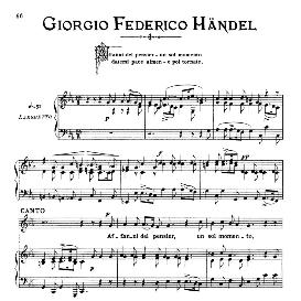 Affani del pensier, Low Voice in C Minor, G.F.Handel. For Baritone, Bass, Mezzo, Contralto, Countertenor. G.F.Handel. From: Arie-Antiche Parisotti) -1-Ricordi (1885) | eBooks | Sheet Music