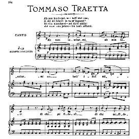 ah non lasciarmi,no; medium-high voice in c major, t.traetta. for soprano, tenor, mezzo, baritone. from: arie antiche (parisotti) -3-ricordi (1889