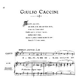 amarilli, medium voice in g minor, g.caccini. for mezzo, baritone. from: arie antiche (parisotti) -2-ricordi (1889)