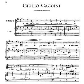 amor ch'attendi, medium-low voice in g minor, g.caccini. for mezzo, baritone. from: arie antiche (parisotti) -3-ricordi (1889
