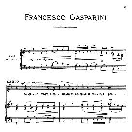 augellin vago e canoro, medium voice in g minor, f.gasparini. for mezzo, baritone. from: arie antiche (parisotti) -3-ricordi (1889)